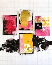 Haciendo Artist Trading Cards (ATC) con Paperinky