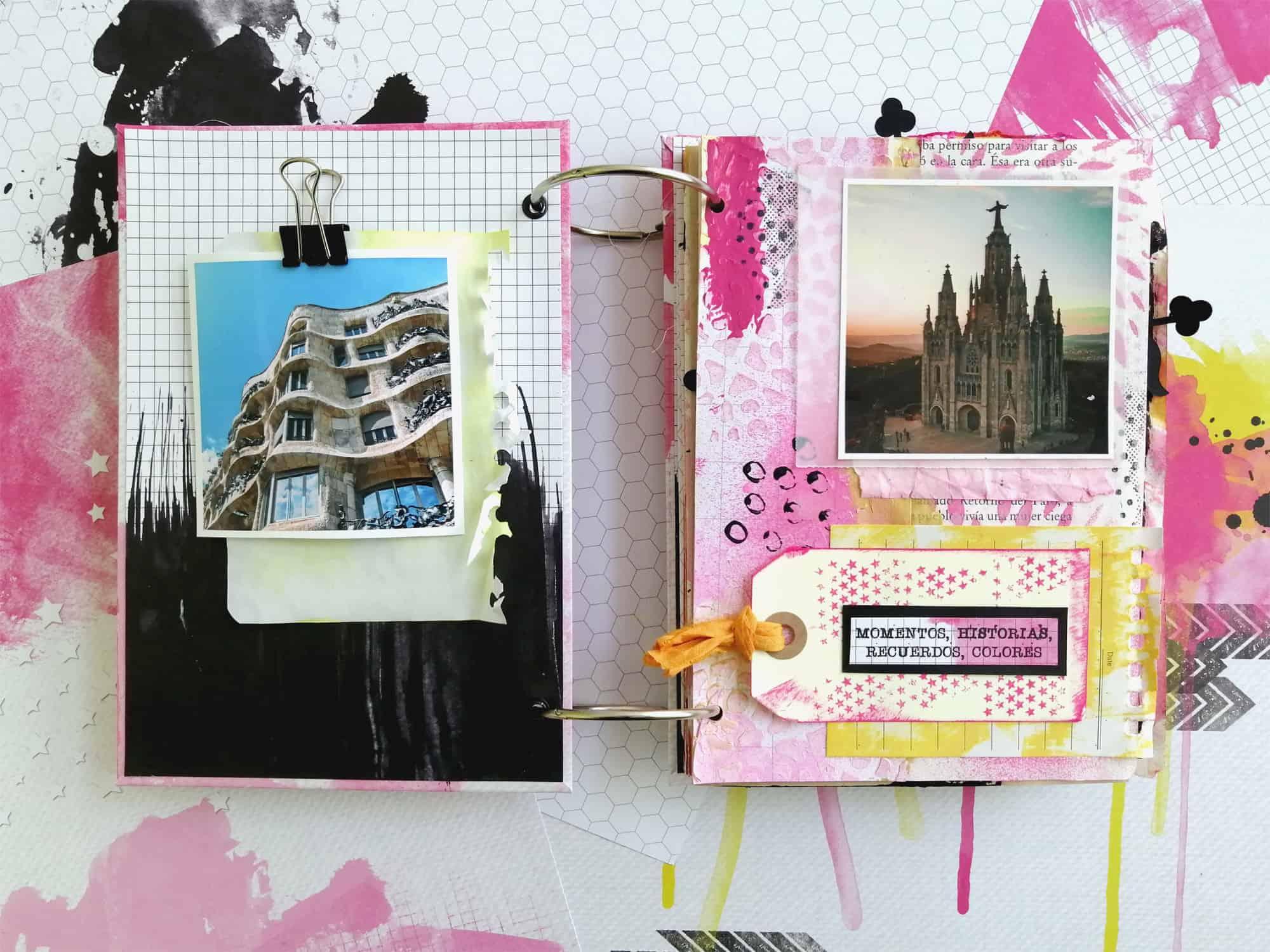 Interior del álbum para el taller en Castellbell i el Vilar - Barcelona