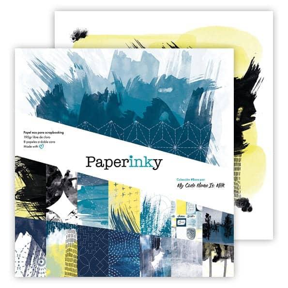 Paperinky Blog Scrapbook Colección #Boro Papel 1 Delante y detrás