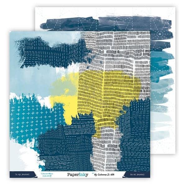 Paperinky Blog Scrapbook Colección #Boro Papel 3 Delante y detrás