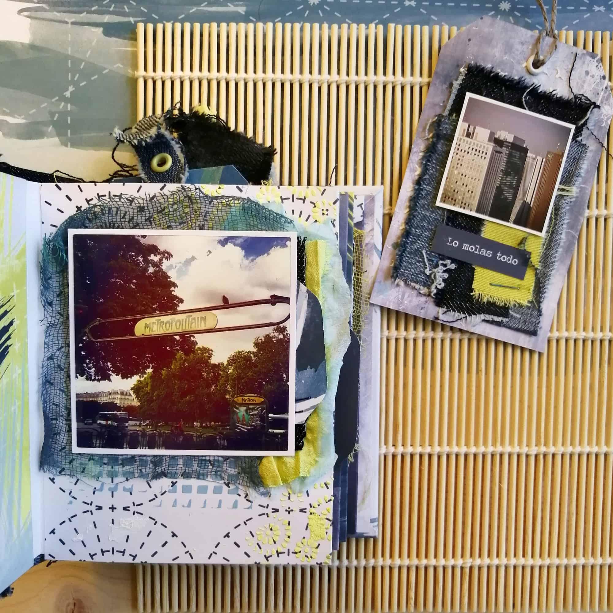 Interior del álbum del taller Boro de Pamplona