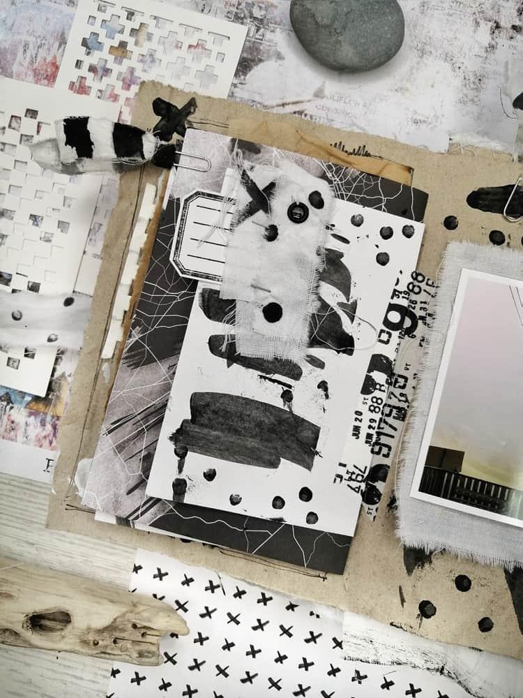 Junk Journal Paperinky Blanco y negro