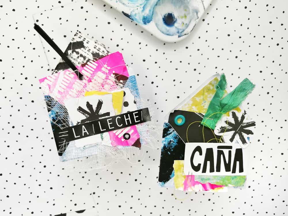 Artefacto Digital Ideas con sobres - embellishments tipo tag