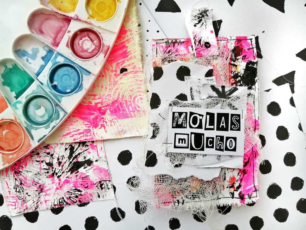 Tags de tela y neón con Artefacto
